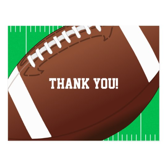 Football Sports Birthday Thank You Postcard Zazzleuk