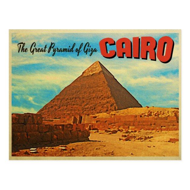 Giza Pyramid Cairo Egypt Postcard Zazzlecouk