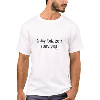 I Survived Friday 13th 2012 shirt