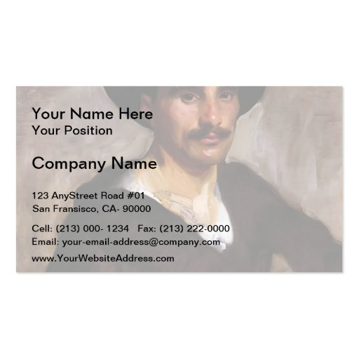 Collections of John Singer Sargent Business Cards