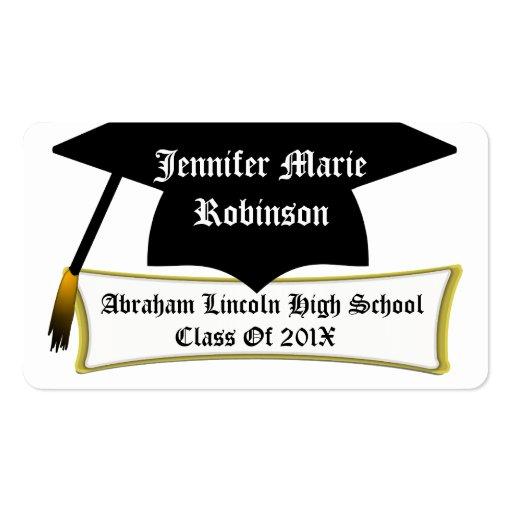 name cards for graduation xv-gimnazija