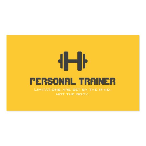 Create Your Own Fitness Trainer Business Cards