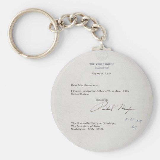 President Richard M Nixon Resignation Letter Key Ring Zazzleuk
