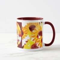 Sunflower Coffee Mug - Whimsical Sunflower Art Mug ...