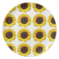 Sunflower Dinner Plates, Sunflower Party Plates
