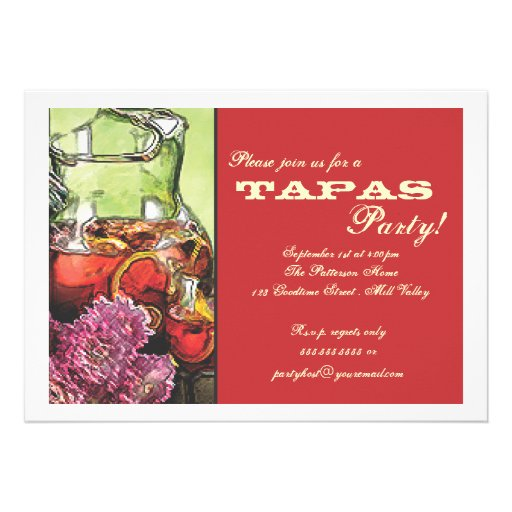 Please Join Us For A Tapas Party Invitation Tallahassee Tapas - bbq flyer