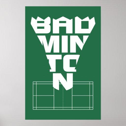 Badminton Quotes Wallpaper Badminton Court Poster 2 Zazzle