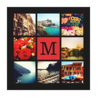 Custom Monogram Instagram Photo Collage Canvas Print ...