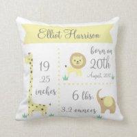 Birth Announcement Cushions - Birth Announcement Scatter ...