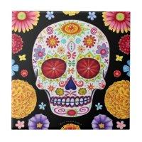 Day of the Dead Sugar Skull Ceramic Tile | Zazzle.com.au