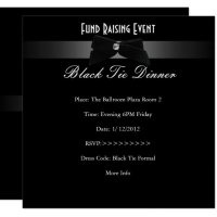 Elegant Invite Fundraiser Formal Black Tie