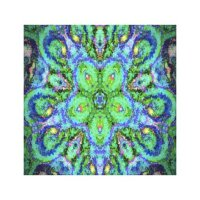 Hippy Wall Design wrapped canvas Stretched Canvas Prints ...