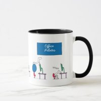 Office Pilates Mug, white Mug | Zazzle.com.au