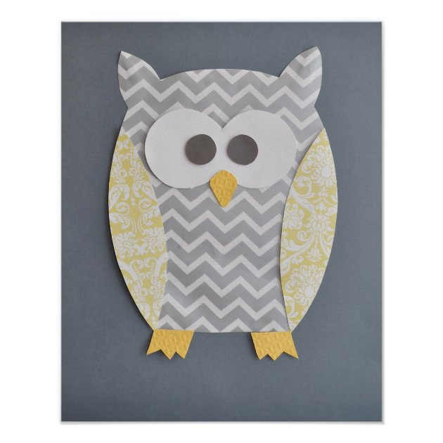 Owl Print For Baby39s Nursery Or Child39s Bedroom Zazzle