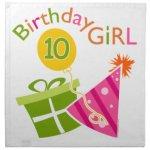Th Birthday Birthday Girl Cloth Napkin