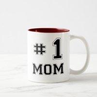 #1 Mom (Number One Mom) Two-Tone Coffee Mug | Zazzle.com
