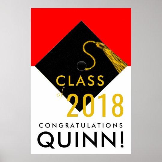 2019 graduation congrats poster Zazzle