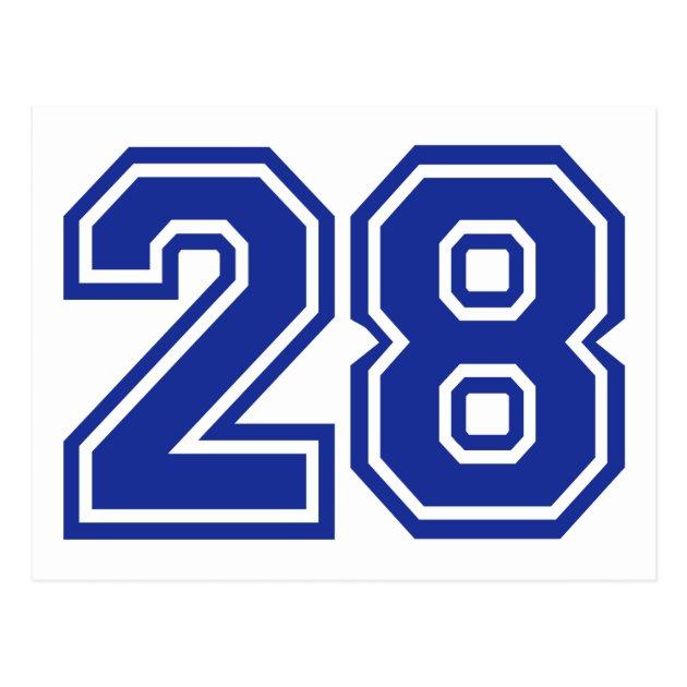 28 Number Postcard Zazzlecom