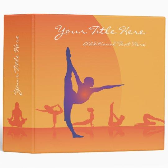 3 Ring Binder Template Yoga Zazzle