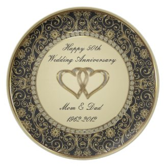 50th Wedding Anniversary Plate
