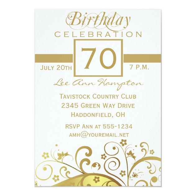 70th 79th Birthday Party Invitations Zazzlecom