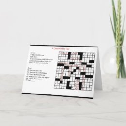 Father's Day Crossword Greeting Card