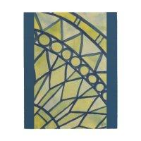 Abstract watercolor mandala wood wall art | Zazzle