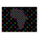 Africa Florescent Polkas Stationery Note Card