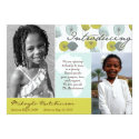 Africa Message: Retro Puffs 5x7 Paper Invitation Card