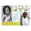 "Africa Message: Retro Puffs 5"" X 7"" Invitation Card"