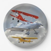 AIRPLANES PAPER PLATE | Zazzle