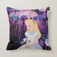 Alice in Wonderland Garden Flowers Film Still Throw Pillow ...