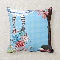 Alice in Wonderland Throw pillow | Zazzle