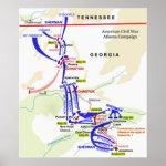 Civil War Atlanta Campaign Map