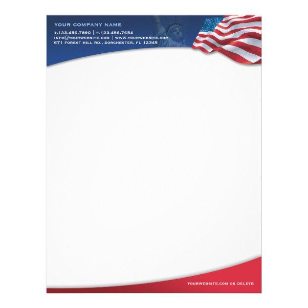 american flag letterhead - Goalgoodwinmetals - american flag background for word document