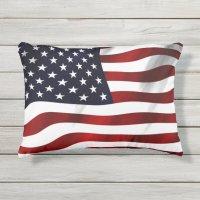 American Flag Outdoor Pillow | Zazzle.com