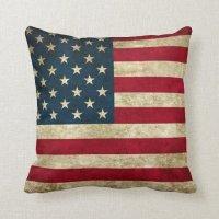 American Flag Pride Throw Pillow | Zazzle