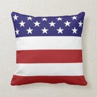 American Flag Throw Pillow | Zazzle