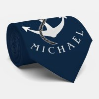Anchor Captain Tie Custom Color Personalized | Zazzle.com