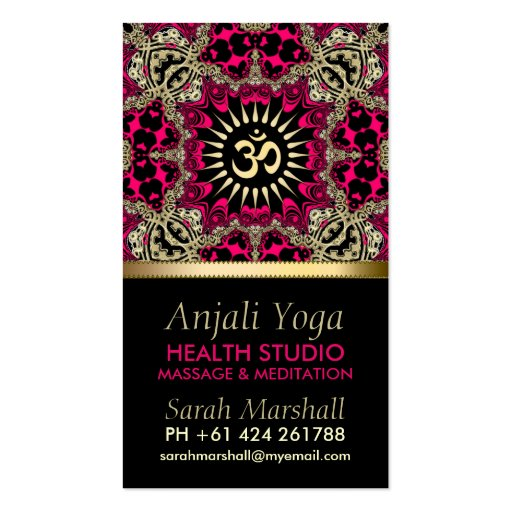 Anjali Yoga Eastern New Age Business Card