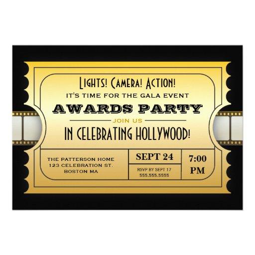 Personalized Gala Invitations CustomInvitations4U - gala invitation template