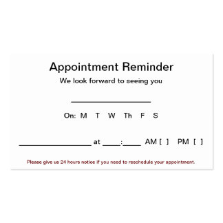100 Appointment Reminder Letter
