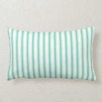 Aqua Country Stripes Lumbar Pillow | Zazzle