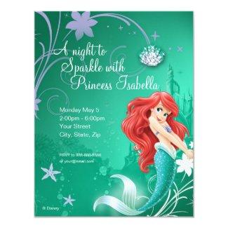 Ariel Birthday Invitation Custom Invites