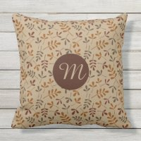 Assorted Fall Leaves Rpt Ptn (Personalized) Outdoor Pillow ...