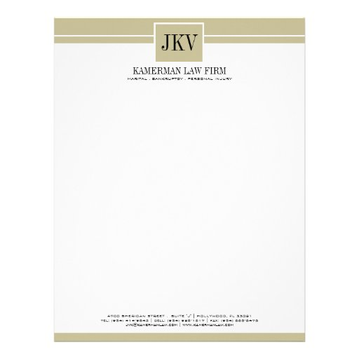 attorney_letterhead - musical theater resume template