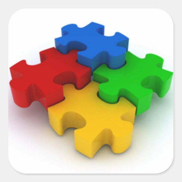 Autism Awareness 3d Puzzle Pieces Stickers Zazzlecom