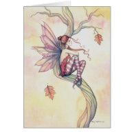 Autumn Tree Fairy Fantasy Art by Molly Harrison Cards