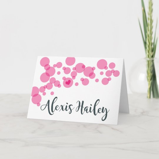 Baby Bubbles Thank You Pink Note Card Zazzle