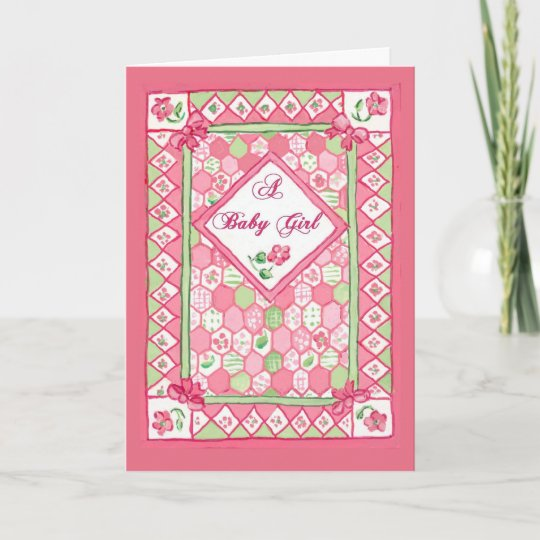Baby Girl Congratulations Card Zazzle
